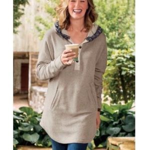 Soft Surroundings Cabin Cuddle Up Hoodie Tunic